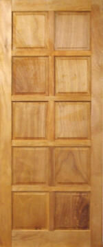 Entry Door Mixed Timber 10 Panel-w813xh2032mm
