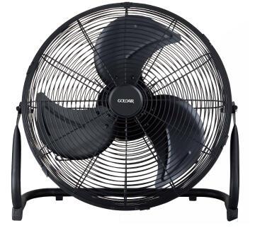 """Floor fan GOLDAIR 18"""" high velocity metal black"""