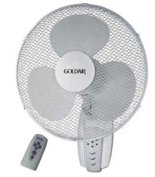 Wall fan GOLDAIR 40cm incl remote control