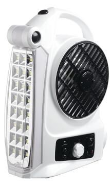 Fan/light/radio GOLDAIR rechargeable