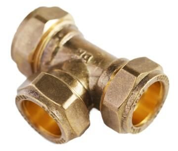 Tee compression equal 22mm c x c x c