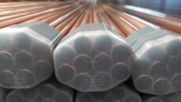 Copper pipe 15mm x 1m Class 0 SABS