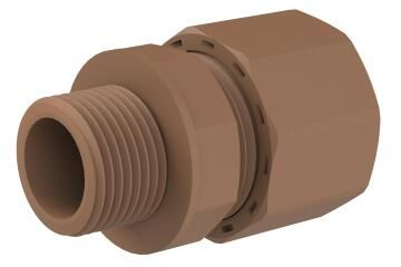 Iron coupler male UNITWIST 15mm x 1/2""