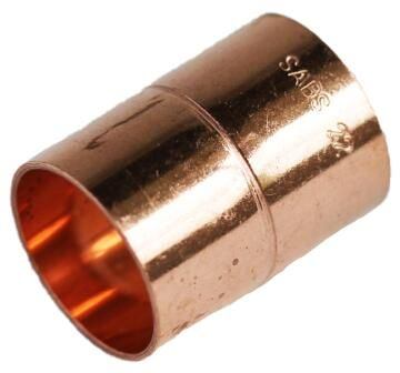 Straight coupler copper capillary 22mm