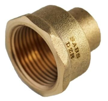Reducing straight coupler copper capillary c x fi 15 x3/4""