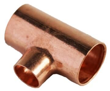 Reducing tee copper capillary cxc 28mmx28mmx15mm