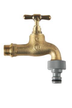 """Garden tap brass 1/2"""" x 3/4"""""""