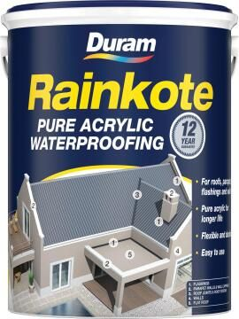 Acrylic waterproofer DURAM Rainkote Black 5L