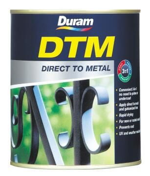 Direct to Metal paint DURAM DTM Hammered Metallic Charcoal 1L