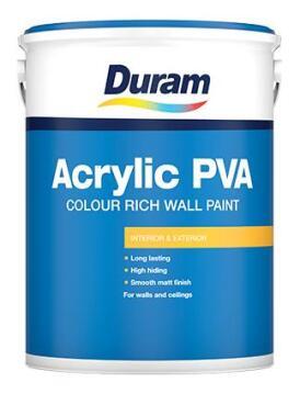 Colour rich wall paint DURAM Matt Acrylic Chena White 5L