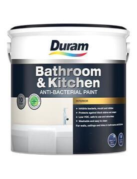 Anti-bacterial paint DURAM Bathroom & Kitchen Pastel White 1L