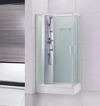 Shower cabin rectangle SENSEA 100x70x200CM with white profile