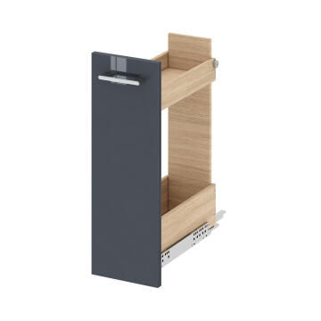 Wall hung sliding drawer for cabinet SENSEA Remix paris grey 20x58x46cm