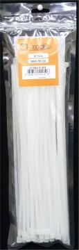 CABLE TIE 300X4.7MM ZOOID WHT X30