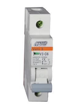 Circuit breaker DIN rail 6Amp MAJOR TECH