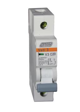 Circuit breaker DIN rail 20Amp MAJOR TECH