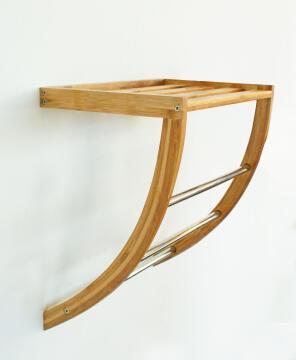 Towel rack bamboo SENSEA light carbon finish