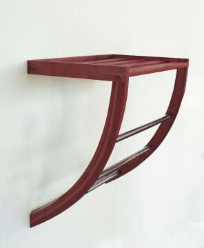 Towel rack bamboo SENSEA Dark carbon finish
