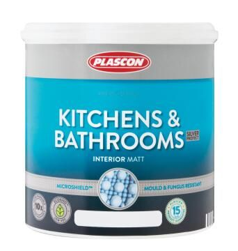 Kitchens & Bathrooms white PLASCON 2.5 litres