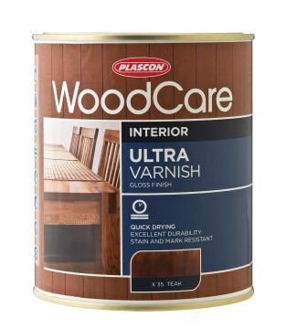 Woodcare Ultra Varnish Gloss Oregon Pine PLASCON 1 litre