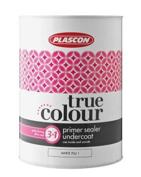 True Colour Primer, Sealer, Undercoat white PLASCON 5 litres