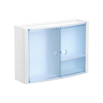 Mirror horizontal carbinet blue