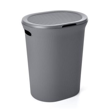 Linen basket 40 l baobab grey