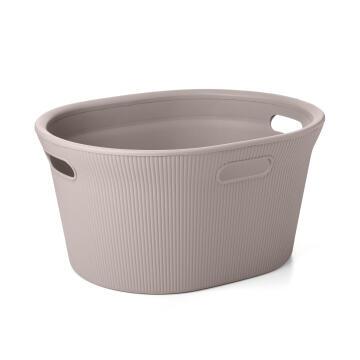 Laundry basket taupe