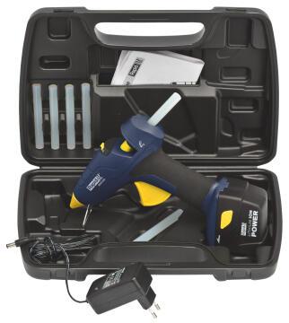 Cordless glue gun with case BGX300 Li-Ion battery 20W rapid