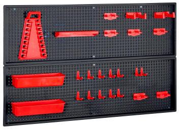 Pegboard Kit Plastic Red