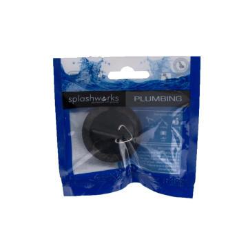 Black Rubber plug 40mm