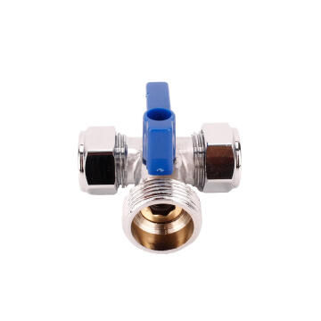 15mm Washing machine Tap tee Chrome