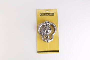 Door knocker satin nickel 150 euro brass