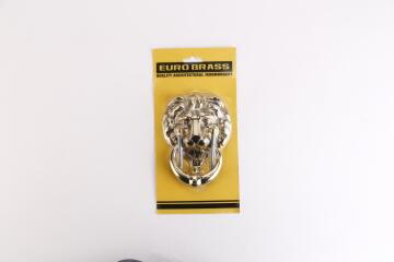 Door knocker brass small lion euro brass