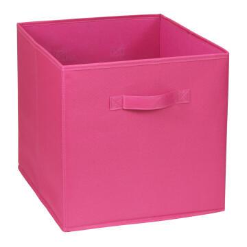Polyester basket pink 31X31X31cm