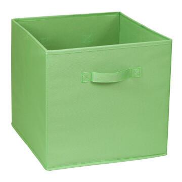 Polyester basket green 31X31X31cm