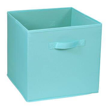 Polyester basket sky blue 31X31X31cm