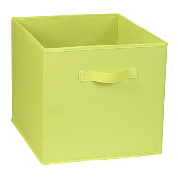 Polyester basket yellow green 31X31X31cm