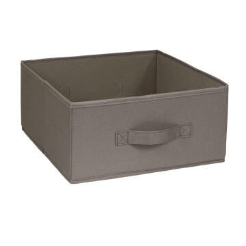 Polyster basket brown 31X31X15cm