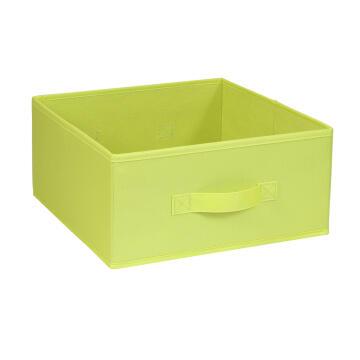 Polyester basket yellow green 31X31X15cm