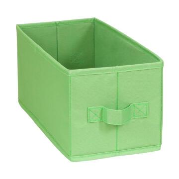 Polyester basket green 15X31X15cm
