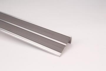 Aluminium Bull Nosing Double with PVC Insert 2.5x300cm