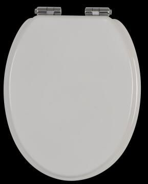 Toilet seat mould with soft close and quick release wood Sensea Purity white