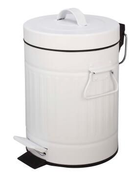 Dustbin iron SENSEA white 5l