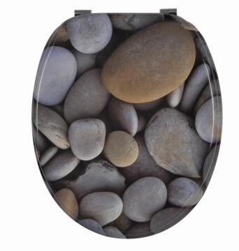 Toilet seat MDF stone pattern Sensea Horizon