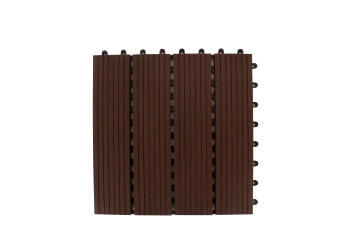 DECKING TILE CHOCOLATE BROWN 300 MM X 300 MM