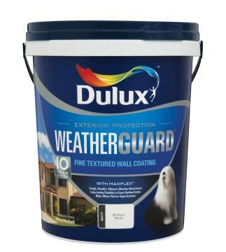 Paint exterior fine textured DULUX WEATHERGUARD Nightingale Grey 20L,