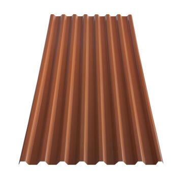 PVC Roof Sheet 2m Terra Cotta GRECOLINA