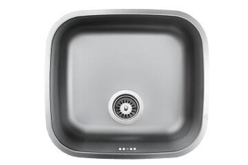 Kitchen sink 1 square bowl undermount antiscratch stainless steel 508mm X 428mm