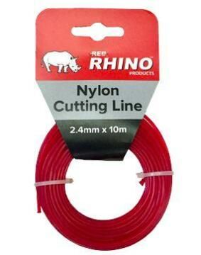 Trimmer Line, 10m Single Pack, RED RHINO, 3.5mm